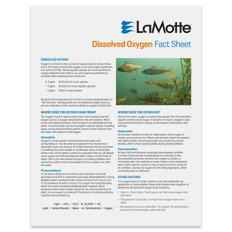 Dissolved Oxygen Fact Sheet